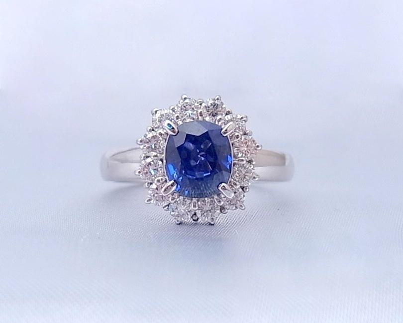サファイア(ブルー) ダイヤモンド リング