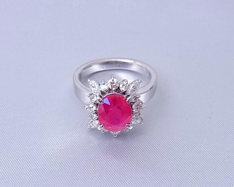 ルビー(非加熱) ダイヤモンド リング