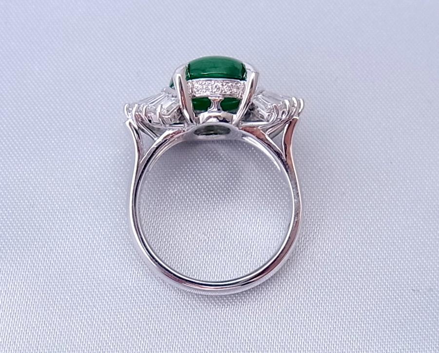 翡翠 ダイヤモンド リング