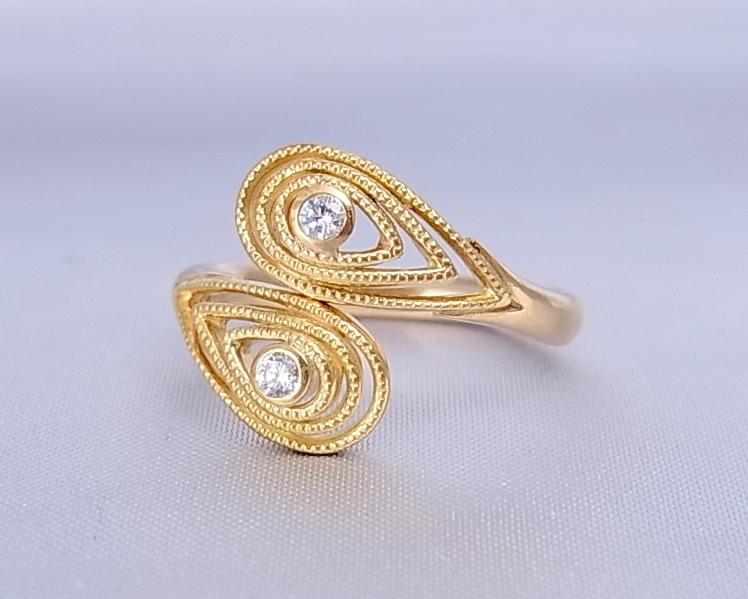 k18yg ダイヤモンド リング