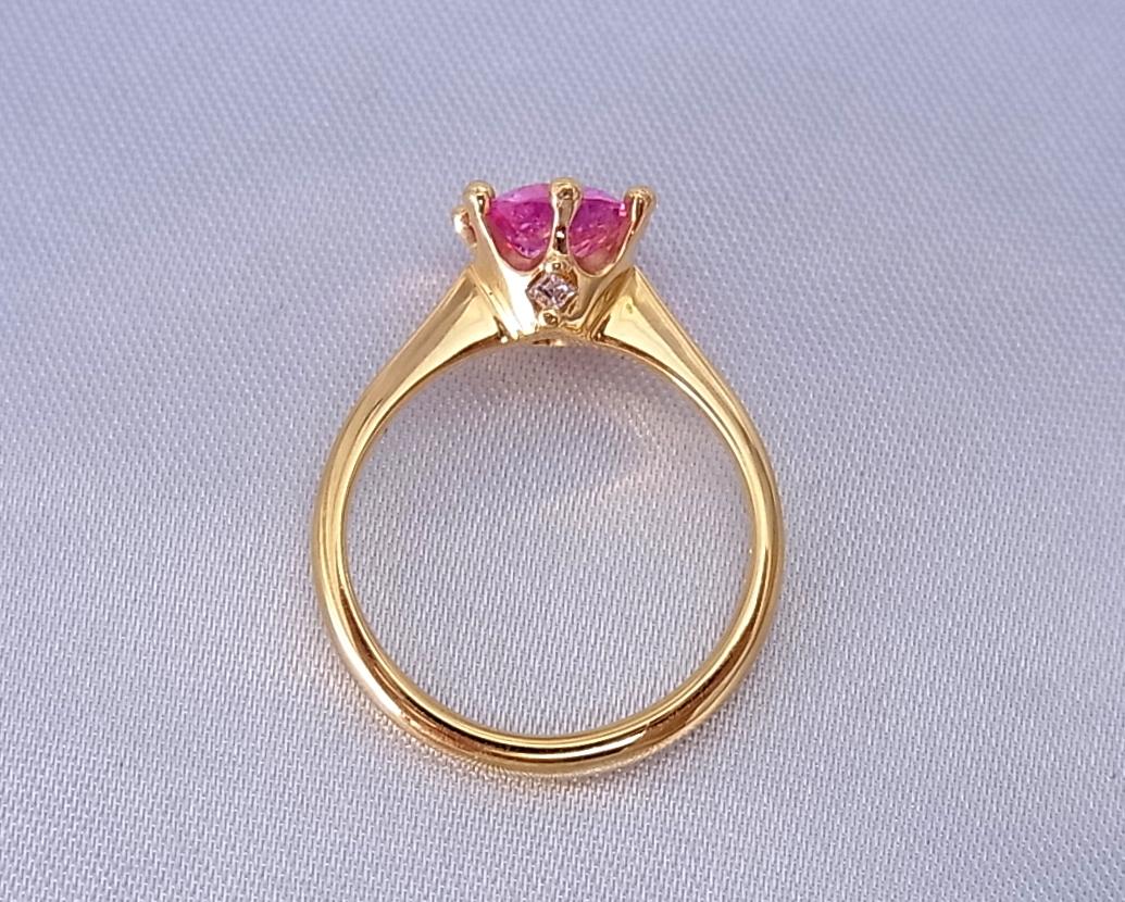 サファイア(ピンク)ダイヤモンド リング