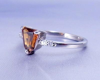 ダイヤモンド(ブラウン)リング