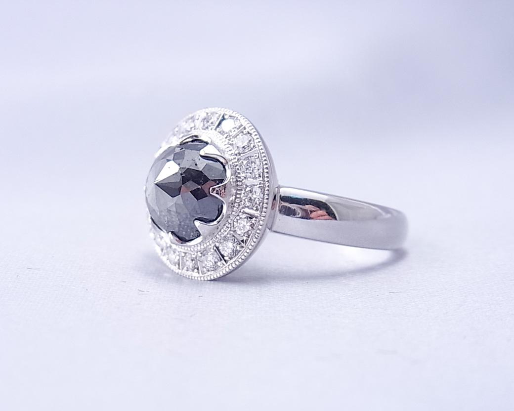 ブラックダイヤモンドのリング