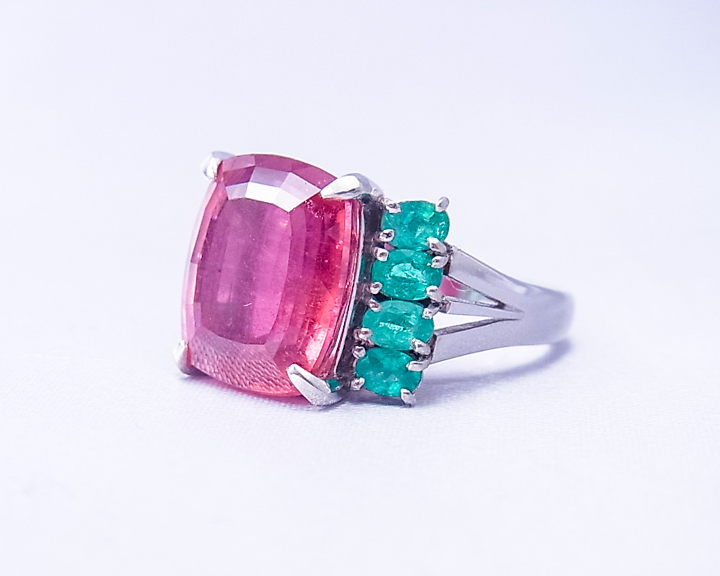 ピンクトルマリンのリング
