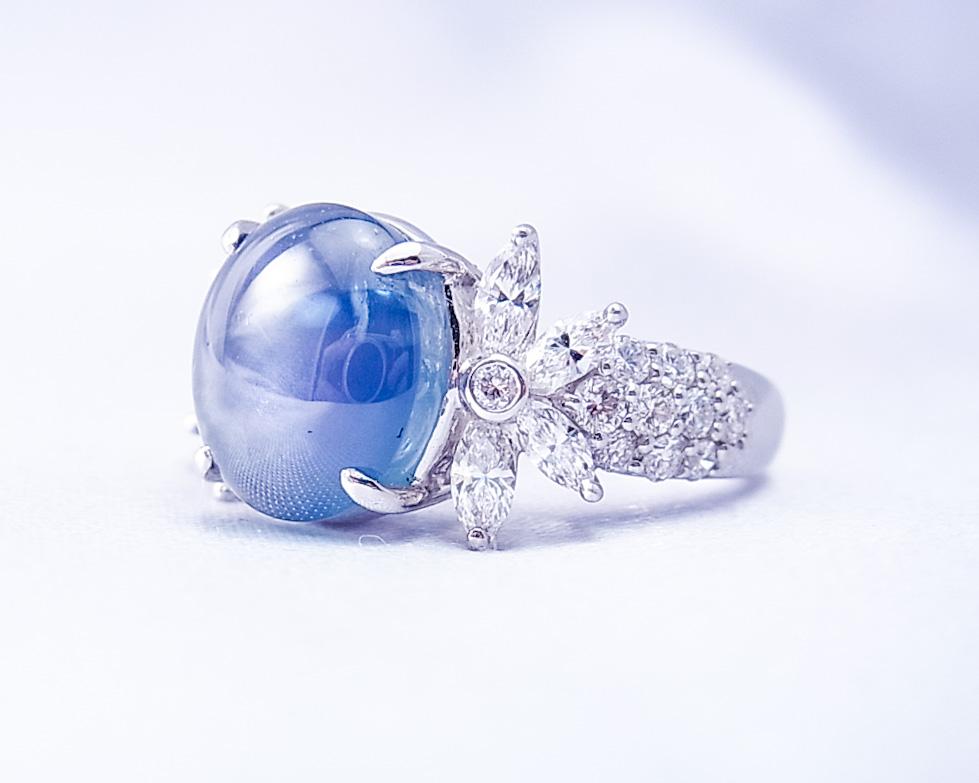 正統派で落ち着いた佇まいのスターサファイアの指輪